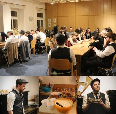 Gemeinsam essen ... Tom erklärt das Gruppenspiel