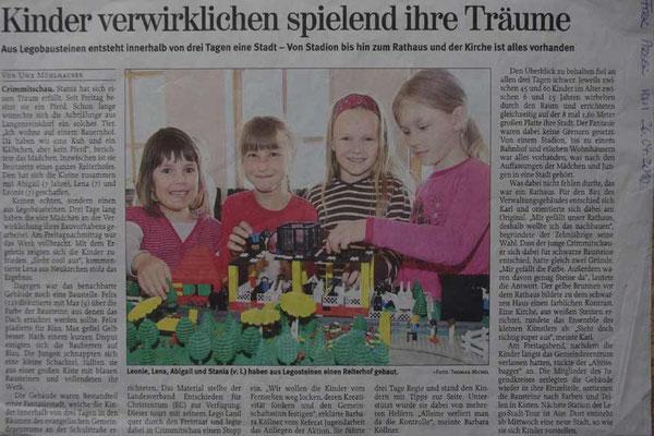 LEGO-ZEIT - Freie Presse vom 26.04.2010