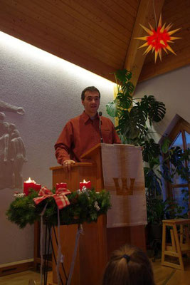 2. Advent 2012 - Begrüßung duch Matthias