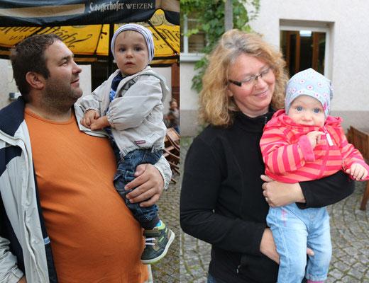 Kai mit Janik, Annett mit Theresa