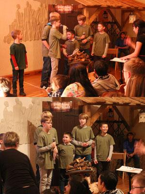 ... die Hirten (Manuel, Michael, Laura, Anton, Simon und Jonas)