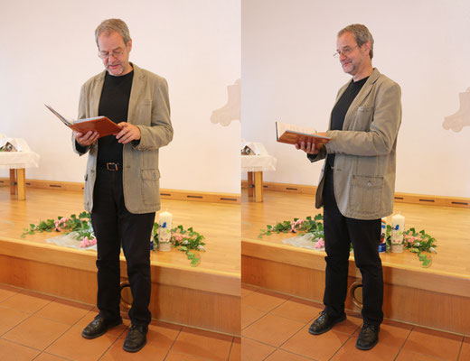 Taufhandlung durch unseren Gemeinschaftspastor Bernd