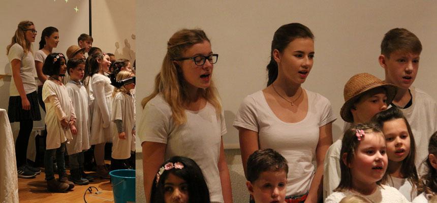 Unterstützung durch die Jugend: Emmelie und Salome