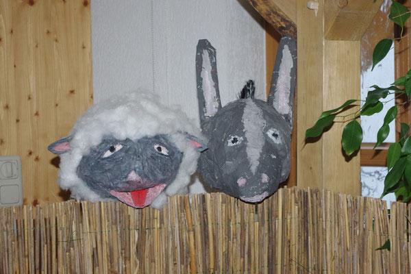 Schaf und Esel