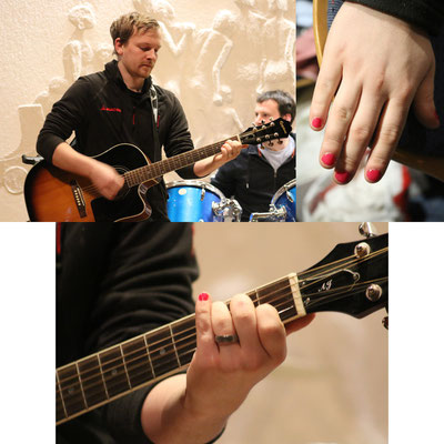 Tom mag nicht wirklich rosa Fingernägel :-) ... er hatte eine kleine Abmachung mit Matthias. Die Nägel wurden nach dem Vorspielen wieder fein sauber gemacht ;-).