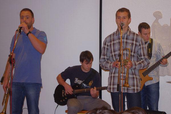 Bandmitglieder Ruben, Daniel, Gerd und Klaus