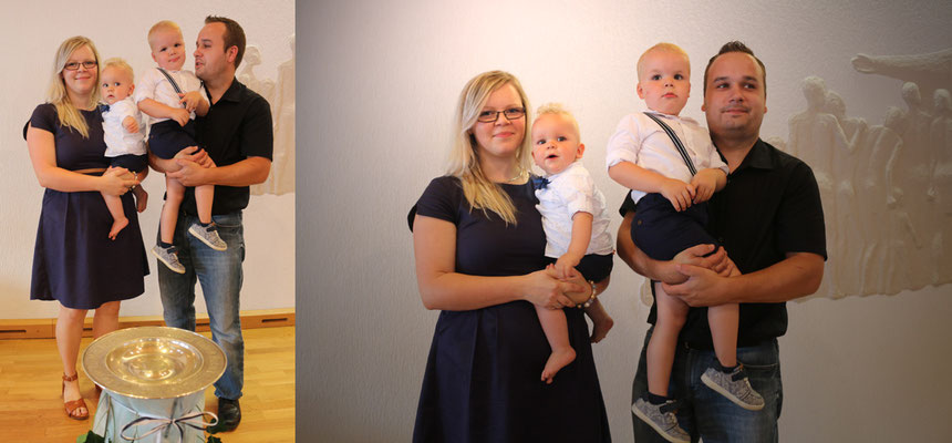 Fritz` Familie: Anne mit Fritz und Andreas mit Richard