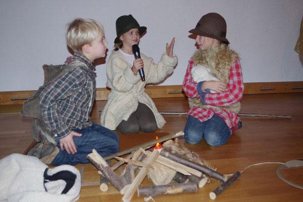 die Hirten (Michael, Margarete und Salome)