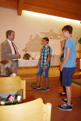 """unsere """"neuen"""" Jugendkreisler Karl, Lydia und Linus"""