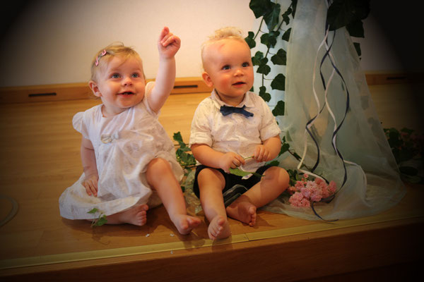 Die beiden Täuflinge Lina und Fritz!
