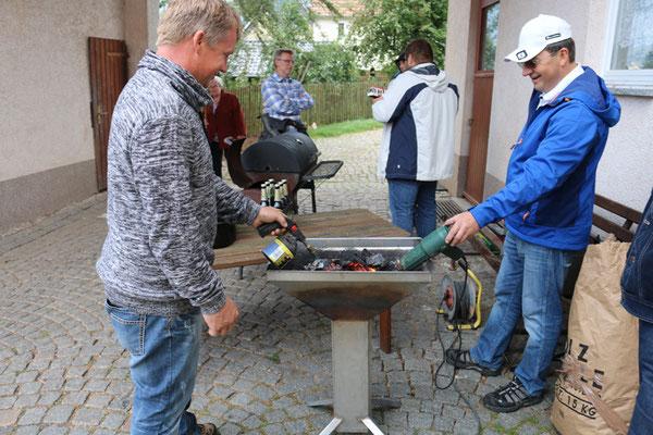 Unsere Grillmeister Heiko und Frieder