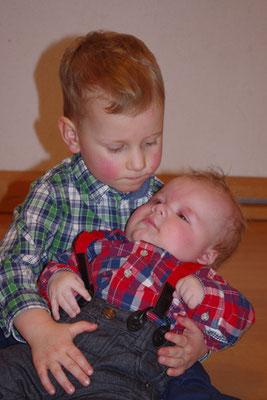 die beiden Täuflinge (und Cousins) Elijah und Richard