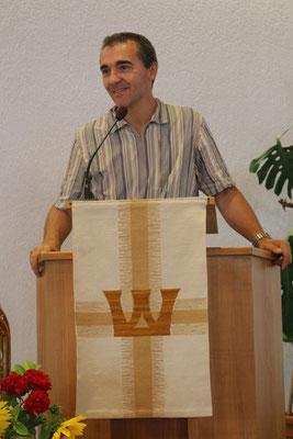 Begrüßung durch einen unserer beiden Gemeinschaftsleiter - Matthias