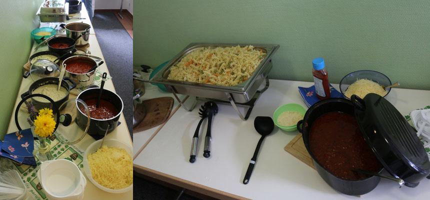 """Ein """"Danke"""" an die fleißigen """"Küchenfeen"""" und an alle Köche/Köchinnen. .... (Fotos von Mandy)"""