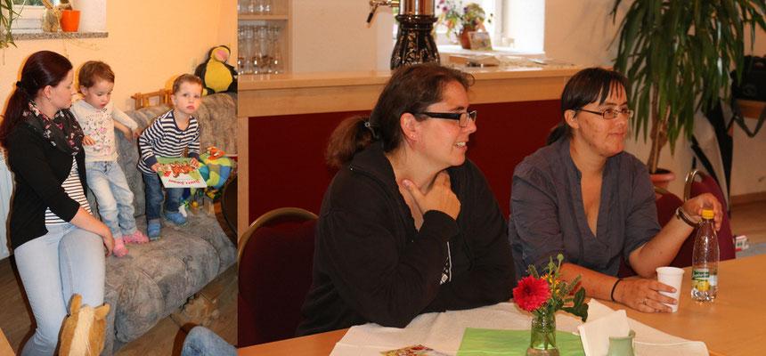 Kerstin mit Leona und Luca, Nancy und Katrin