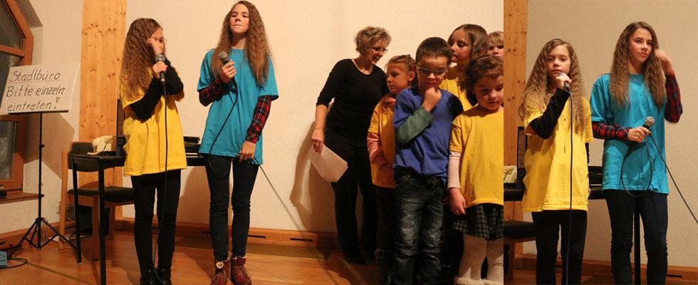 """""""Ein kleines Kind im Arm..."""" gesungen von Jael und Salome und den Musicalkids"""