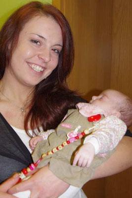 Patin und Tante Sylvia mit Leona