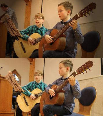 """Manuel und Florian hatten ein zweites Stück eingeübt - """"Kommet ihr Hirten"""""""