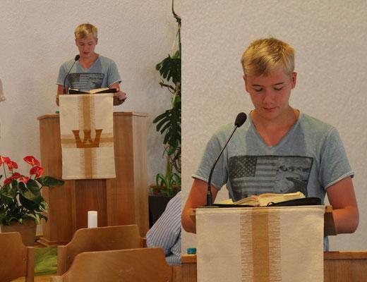 Vorlesen des Bibeltextes - Samuel