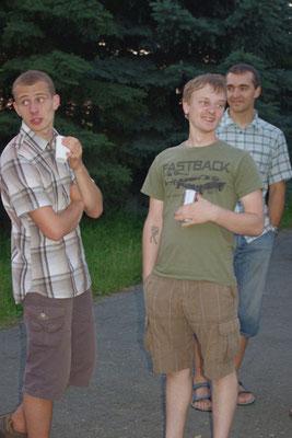 Gerd, Tom, Matthias