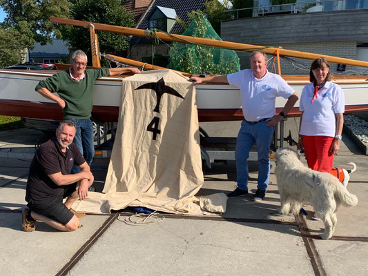 19 september 2020 : aankomst bij Jachtwerf Albert Wester in Grou