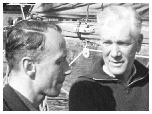 links : C.Bruijnzeel jr. rechts : Ricus vd Stadt