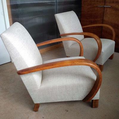 Rénovation d'un duo de fauteuils Studio © Marlène Vidal