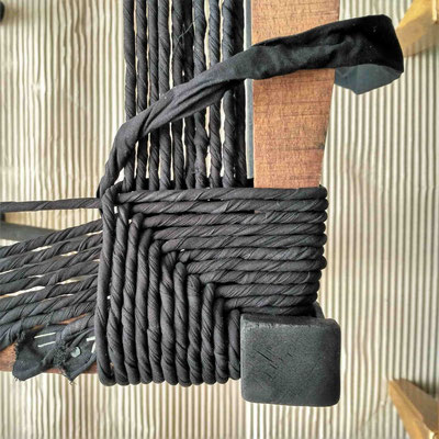 Rentissage en coton noir © Marlène Vidal