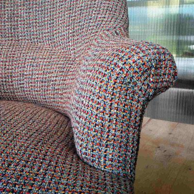 Finition passepoilée en couture manuelle cachée © Marlène Vidal