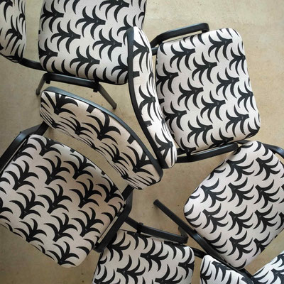 Chaises de bureau graphiques © Marlène Vidal