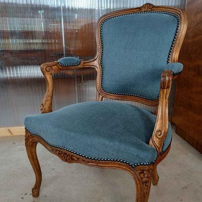 Fauteuil Cabriolet style Louis XV © Marlène Vidal