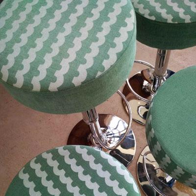 Tissu lin et coton sérigraphié par Fétiche à Villefranche-de-Rouergue © Marlène Vidal