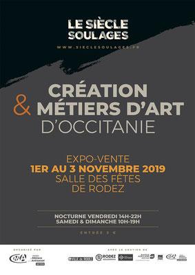"""Participation au Salon """"Création et Métiers d'art d'Occitanie"""" septembre 2019"""