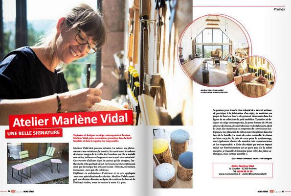 """Article """"Atelier Marlène Vidal - Une belle signature"""" Texte : Mélisa Guendouzi – Photos : Fred Garrigues"""