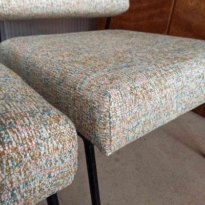 Tissu Printemps (lin/laine) de chez Métaphores © Marlène Vidal