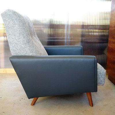 Nouvelle couverture pour ce fauteuil populaire des années 1960 © Marlène Vidal