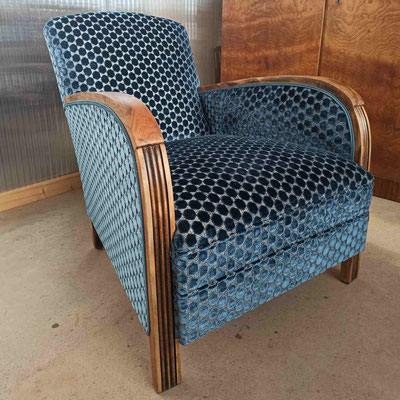 Rénovation traditionnelle d'un fauteuil Art Déco © Marlène Vidal