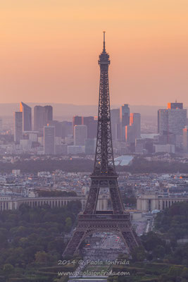 Sunset and the Eiffel Tower