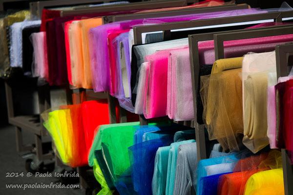 Il mercato di stoffe