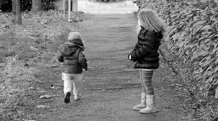 Bambini al parco bn