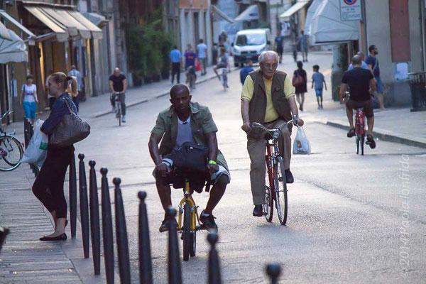 In sella a piccola bici