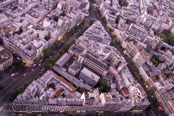 Particolare di Parigi dall'alto