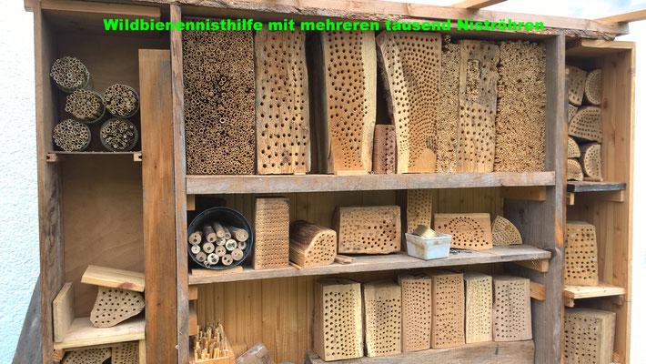 """Die """"Luxusversion"""" einer Wildbienennisthilfe mit mehreren tausend Niströhren"""
