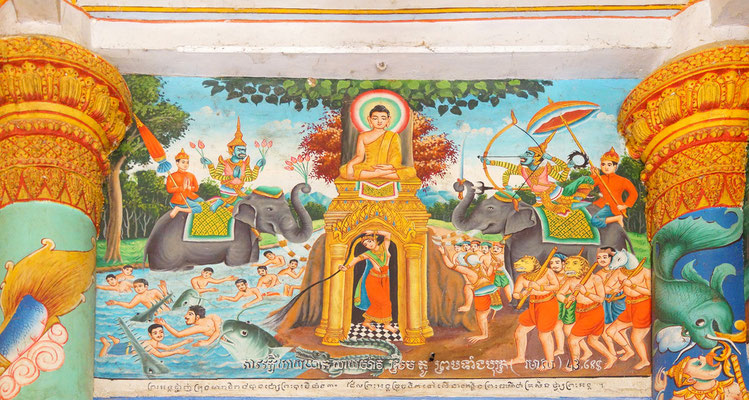 Der Tempel Wat Nokor ist in der Provinz Kampong Cham zu finden.