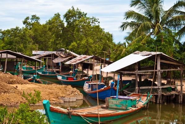 Das  Leben in Koh Sralao findet am Wasser statt.