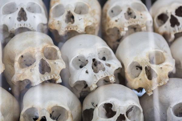 Stumme Zeugen der traurigen Vergangenheit Kambodschas.