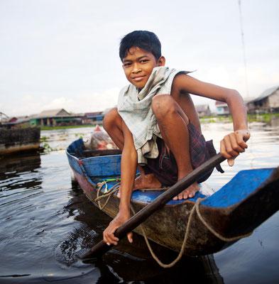 Das Leben am Tonle Sap spielt sich hauptsächlich auf dem Wasser ab.