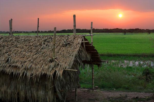 Sonnenaufgang über Pursat