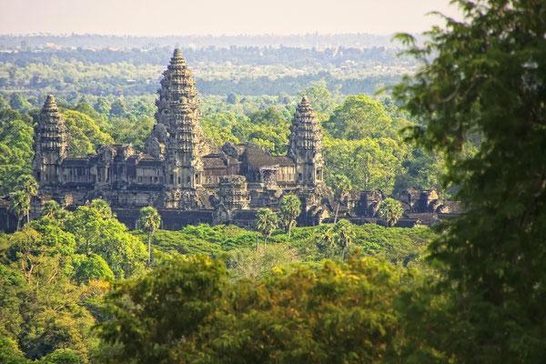 Die grosse Tempelanlage von Angkor Wat.