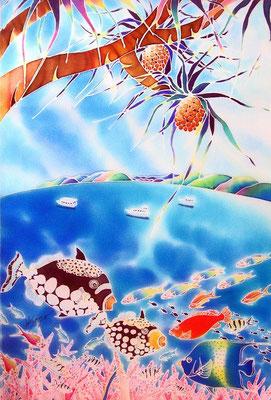 ちゅら海天国:原画サイズ40×50cm SOLD